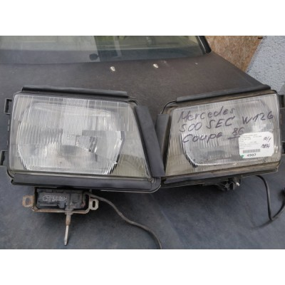 Přední světla,Reflektor,light,lampa Mercedes W126 500 SEC COUPE bez motorku stěrače